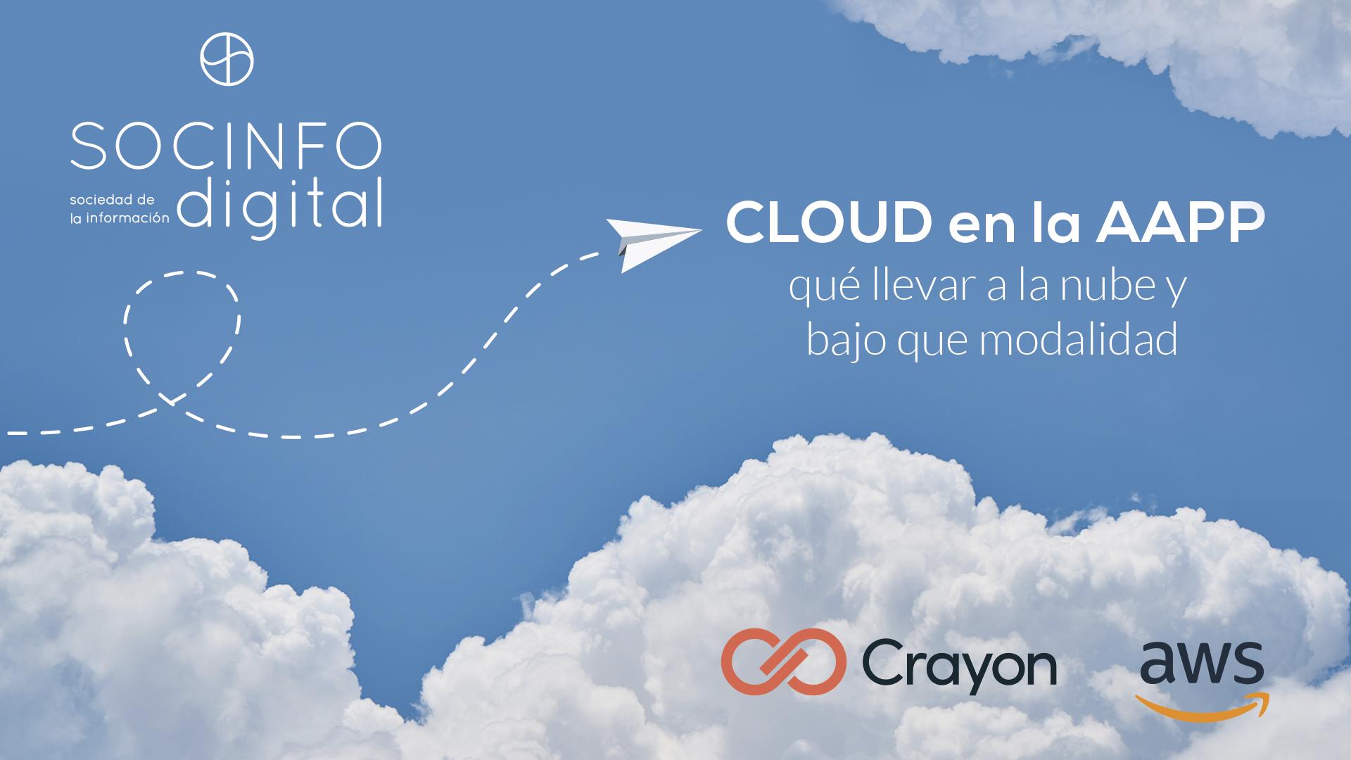 Presentaciones de los ponentes disponibles  Cloud en la AAPP: qué llevar a la nube y bajo que modalidad